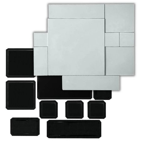 BLACK 426 - Kit 9 Formas ABS 2mm Gesso/Cimento - Mosaico 50 - 1/2 m²
