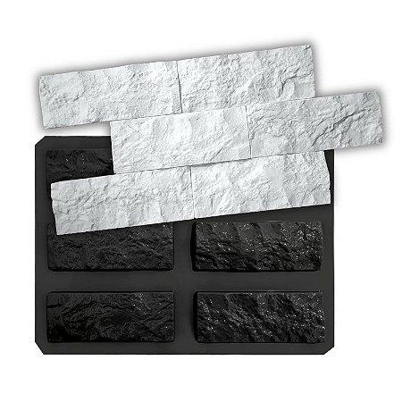 BLACK 102 - Forma ABS 2mm Gesso/Cimento - Rockface 6 pçs de 21 x 8 cm