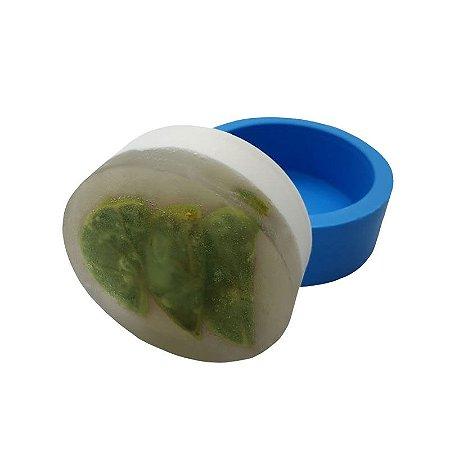 MDL 01 - Molde de silicone p/ sabonete - Redondo Liso