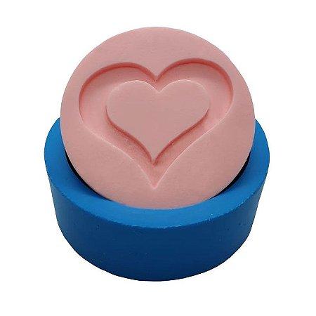MDL 06 - Molde de silicone p/ sabonete - Coração