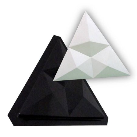 BLACK 30 - Forma ABS 2mm Gesso/Cimento - Bico trio Δ 40 cm