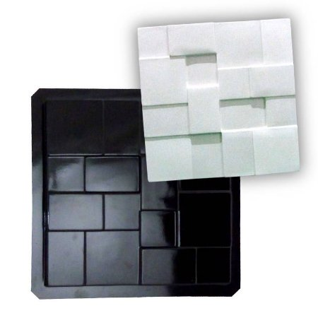 BLACK 04 - Forma ABS 2mm Gesso/Cimento - Geométrico 38,5 x 38,5