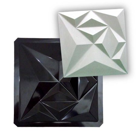 BLACK 34 - Forma ABS 2mm Gesso/Cimento - Diamond 39 x 39 cm