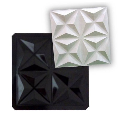 BLACK 38 - Forma ABS 2mm Gesso/Cimento - Mini Culinans 38,5 x 38,5 cm