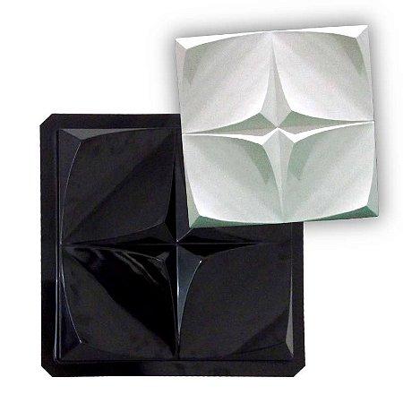 BLACK 46 - Forma ABS 2mm Gesso/Cimento - Ilusion 40,5 x 40,5 cm