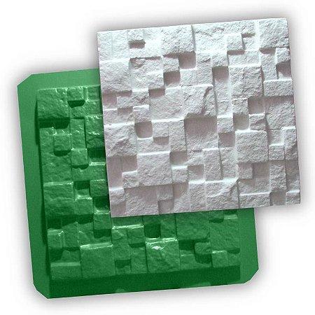 ECO 01 - Forma ABS 1mm Gesso/Cimento - Mosaico Natural 28 X 28