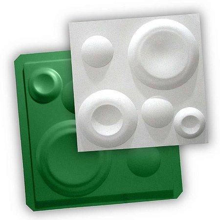 ECO 10 - Forma ABS 1mm Gesso/Cimento - Lunar 38,5 X 38,5 cm