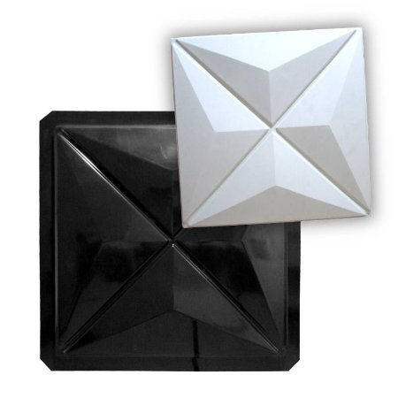 BLACK 09 - Forma ABS 2mm Gesso/Cimento - Culinans 39,5 X 39,5 cm