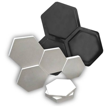 BLACK 71 - Forma ABS 2mm Gesso/Cimento 3 / 23 x 20 cm