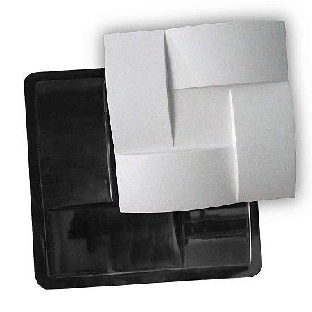 BLACK 72 - Forma ABS 2mm Gesso/Cimento - Trançadão 40 x 40 cm