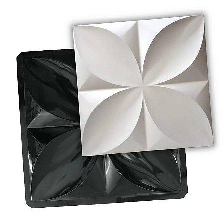 BLACK 406 - Forma ABS 2mm Gesso/Cimento - Pétalas 50 X 50