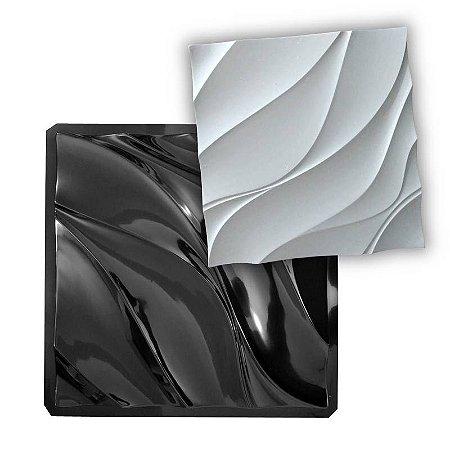 BLACK 408 - Forma ABS 2mm Gesso/Cimento - Dunas Diagonal 50 X 50