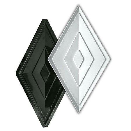 BLACK 419 - Forma ABS 2mm Gesso/Cimento - Losango 73 x 36,5 cm