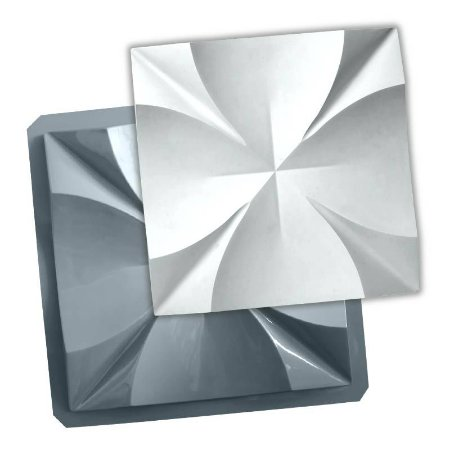PRO 86 - Forma ABS 1.5 mm Gesso/Cimento - Malta 40 X 40 cm