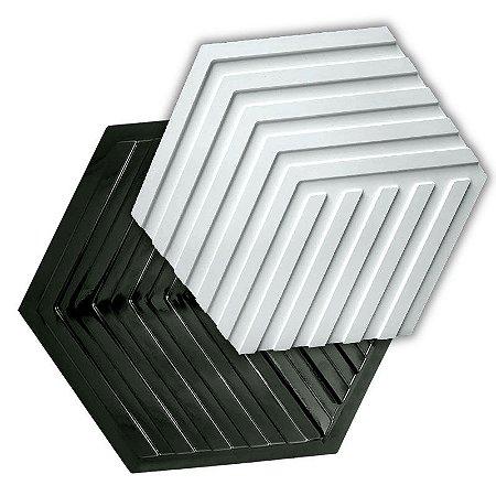 BLACK 90 - Forma ABS 2mm Gesso/Cimento - Labirinto 44 x 38 cm