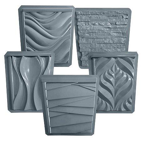 Kit 5 formas lateral vaso - ABS 1.5mm - Garden, Dunas, Montreal, Ondas e Canjiquinha