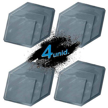 KIT 4 formas PRO 74 - ABS 1.5 mm Gesso/Cimento - Patente 50 x 32 cm