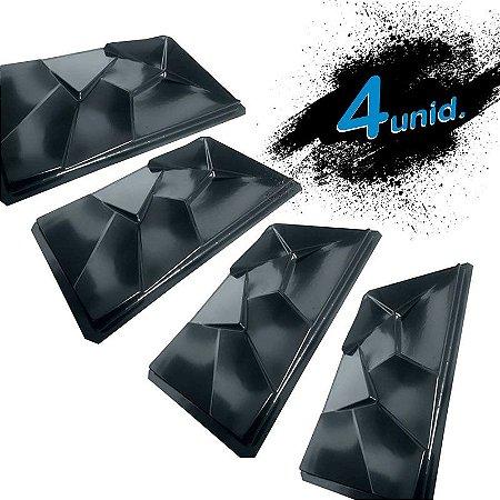 KIT 4 formas BLACK 413 - ABS 2mm Gesso/Cimento - Partenon 59,5 X 33,5 CM