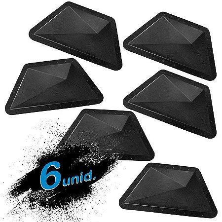 KIT 6 formas BLACK 51 - ABS 2mm Gesso/Cimento - Trapézio 43 X 19 cm