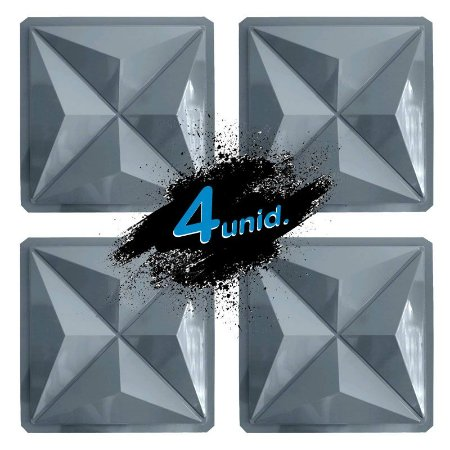 KIT 4 formas PRO 89 - ABS 1.5 mm Gesso/Cimento - Culinas 40 x 40 cm