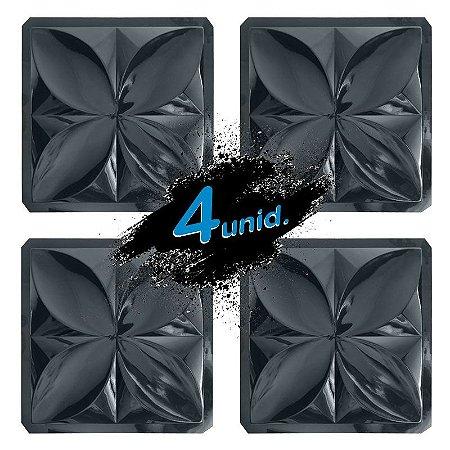 KIT 4 formas BLACK 33 - ABS 2mm Gesso/Cimento - Pétalas Slim 39 X 39 cm
