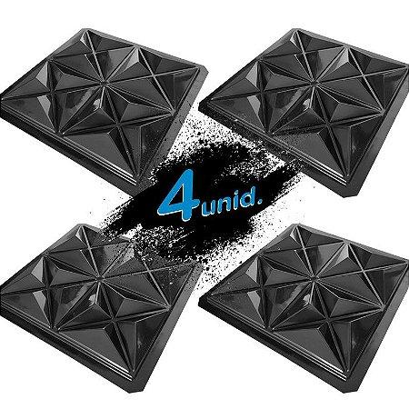 KIT 4 formas BLACK 80 - ABS 2mm Gesso/Cimento - Mini Culinans - 40 x 40 cm