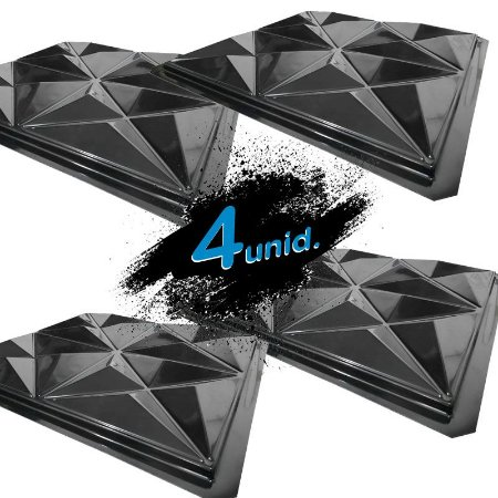 KIT 4 formas BLACK 405 - ABS 2mm Gesso/Cimento - Cullinans 50 X 50