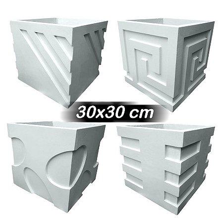 Kit 4 formas lateral vaso 30X30 CM - ABS 1.5mm - Horizontal, Diagonal, Egípcio e Elipses