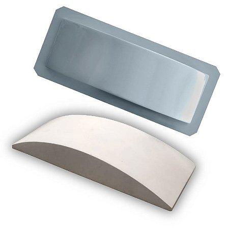 PRO 73 - Forma ABS 1.5 mm Gesso/Cimento - Tijolinho Côncavo 30 X 10 cm