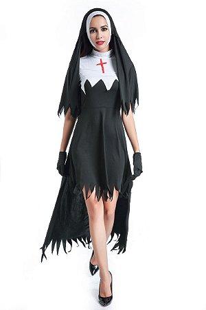 Fantasia de Freira Halloween