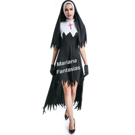 Freira Halloween Exclusiva Mariana Fantasias