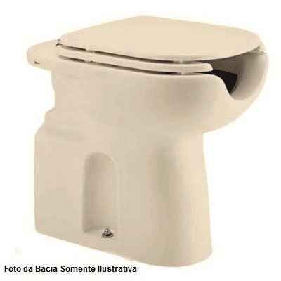 Assento Poliéster com Abertura Frontal e Microban Vogue Plus Conforto Creme Deca