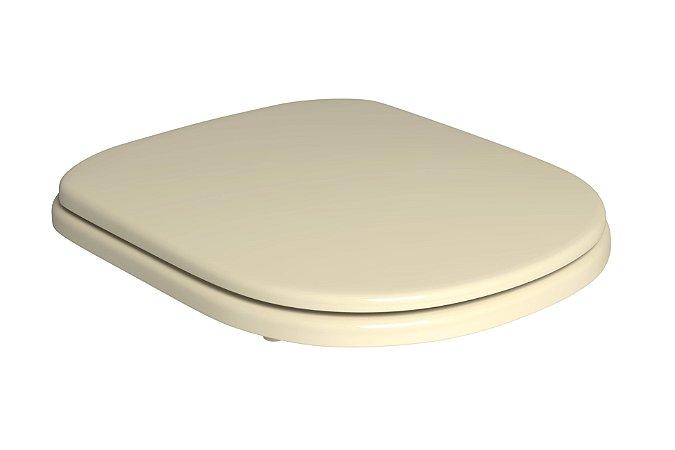 Assento Plástico com Microban Vogue Plus Creme Deca