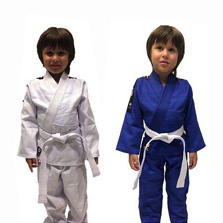 Kimono Judô Trançado Leve Infantil Marca Aranha