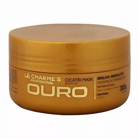 LE CHARMES BANHO DE OURO MÁSCARA HIDRATANTE REPARADORA 300G Bella gold cosmeticos