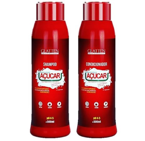 Shampoo E Condicionador Açucar Glatten 6xsem juros