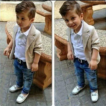 Roupa Esporte Fino Infantil Blazer Menino De 2 E 3 Anos - Ranna Bebê e023b76a7ab