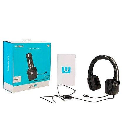 Headset com Fio Stereo Kunai Triton Preto - Nintendo Wii U