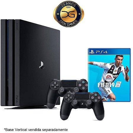 PlayStation 4 PRO 1TB Com 2 Controles + Fifa 19 Nacional