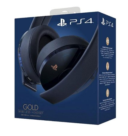 Headset New Gold: 500 Million Limited Edition - PlayStation 4