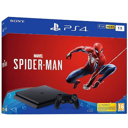PlayStation 4 Slim 1TB com jogo Marvel Spider Man