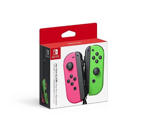 Joy Con (Esquerdo/Direito) Neon Pink/ Neon Green- Nintendo Switch