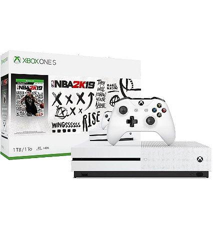 Xbox One S de 1tb com NBA 2k19