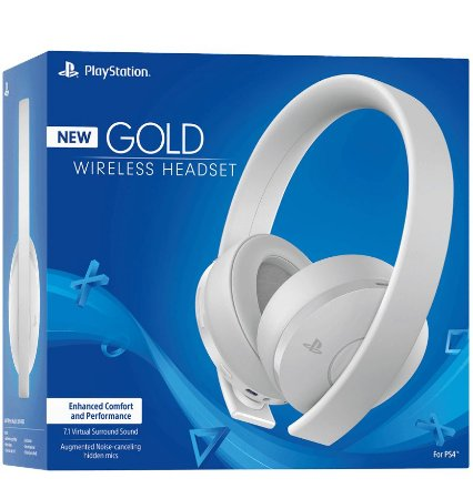 New Gold Wirelless Headset Branco - PlayStation 4