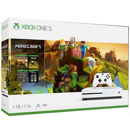 Xbox One S 1tb Bundle Minecraft Creator's Bundle