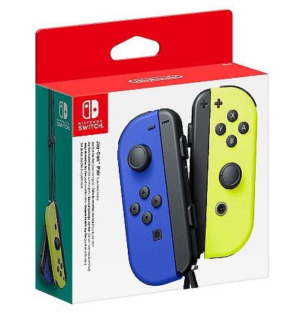 Joy Con (Esquerdo/Direito) Azul/ Neon Yellow - Nintendo Switch
