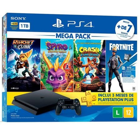 PlayStation 4 Slim 1TB Bundle Family com 7 jogos