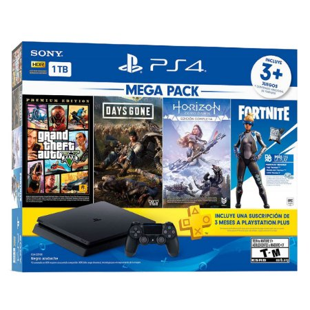 PlayStation 4 slim 1TB Mega Pack