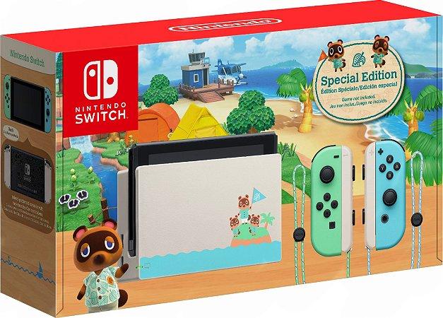 Nintendo Switch Edição Especial Animal Crossing Novo Modelo