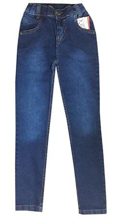 Calça Jeans Infantil Azul Escuro Tam 08